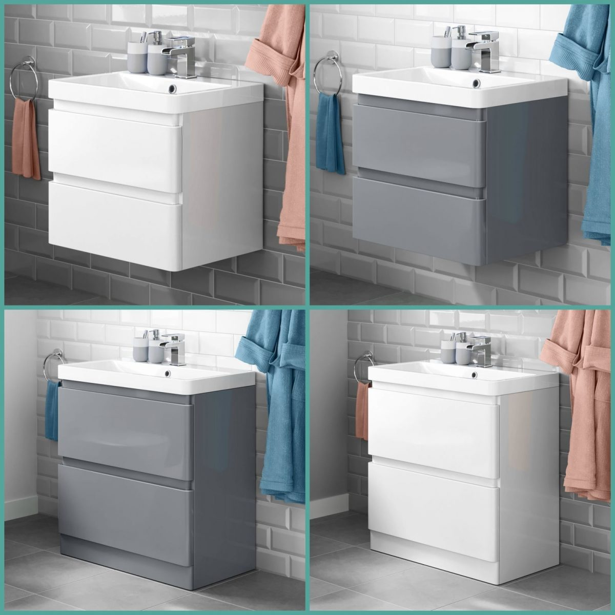New Round Bathroom Furniture with high gloss painting