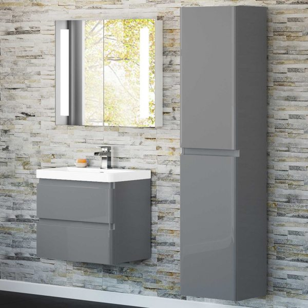 New Design Round bathroom furniture with high gloss painting