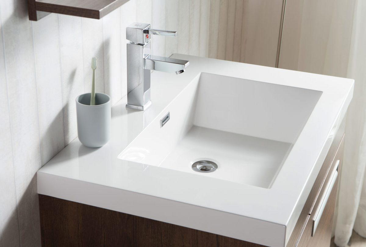 "Alma 30"" Rosewood Wall Hung Left Side Modern Bathroom"