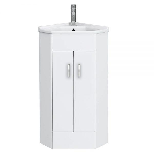 High-Gloss-White-Corner-Cabinet-Vanity-Unit